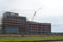 Construction site of new building for Swansea University, Wales Stock Image
