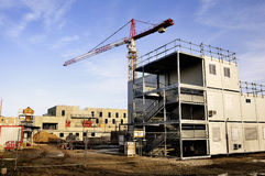 Construction site of new buildings. In the Paris region Royalty Free Stock Photos