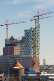 Construction of new opera house in Hamburg Stock Photography