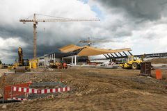 Construction Site of a new exhibition hall in Stuttgart, Germany Royalty Free Stock Photography