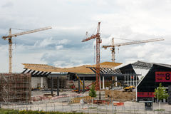 Construction Site of a new exhibition hall in Stuttgart, Germany Royalty Free Stock Photos