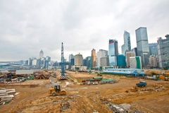 Construction site for new highway in Hong Kong Stock Image