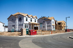 Construction Site of New Homes. In Denver, Colorado Royalty Free Stock Image