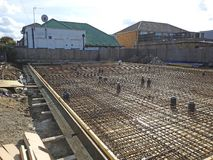 Construction site new homes Royalty Free Stock Photos