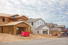 Construction Site of New Homes Stock Photography