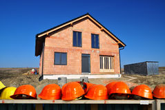 Construction site work house Stock Images