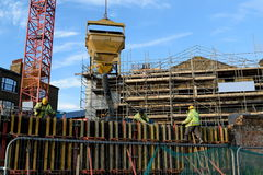 Construction site. With new multy-storey building Stock Images