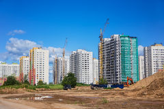 Construction site of a new residential neighborhood Royalty Free Stock Photography