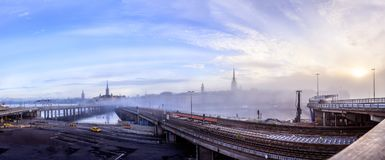 Construction site of the new Slussen in Stockholm, Sweden Stock Images