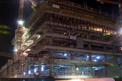 Construction site in the night Royalty Free Stock Image