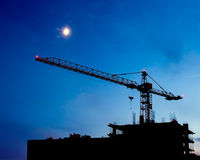 Construction Site Night Scene Stock Photos