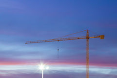 Construction Site Night Scene Stock Photography