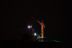 Construction site at night Stock Photography