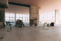 Free Construction Site Of A Shopping Center Inside. Royalty Free Stock Photos - 199519708