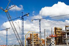 Construction Site Of Football Stadium Royalty Free Stock Photos