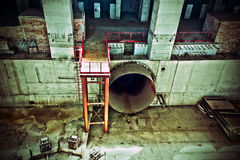 Construction site. An old construction site of power station royalty free stock photo