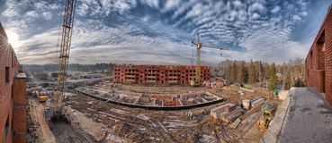 Construction site panorama Royalty Free Stock Photos