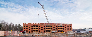 Construction site panorama Stock Photography