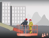 Construction Site Planing Royalty Free Stock Photos