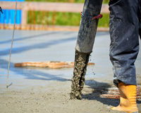 Construction site pouring. Concrete Royalty Free Stock Photo