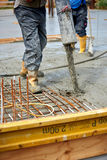 Construction site pouring. Concrete Stock Photography