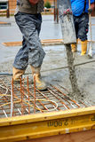 Construction site. Pouring concrete Royalty Free Stock Image