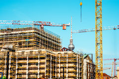 Construction site in progress in Berlin. Royalty Free Stock Photography