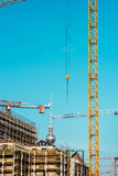 Construction site in progress in Berlin, Germany. Royalty Free Stock Photos