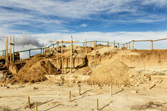 Construction Site Quilotoa Ecuador Royalty Free Stock Image