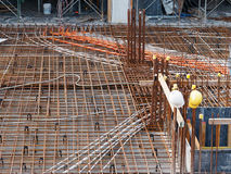 Construction Site Rebar Stock Image