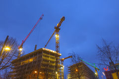 Construction site at the Reeperbahn Royalty Free Stock Image