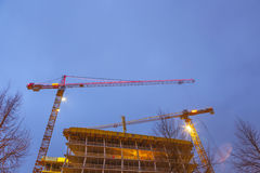 Construction site at the Reeperbahn Royalty Free Stock Photo