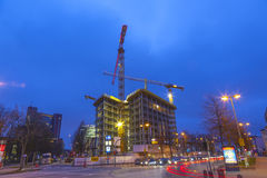 Construction site at the Reeperbahn Royalty Free Stock Images