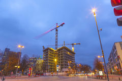 Construction site at the Reeperbahn in Hamburg Stock Image