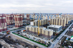 Construction site of residential house. Tyumen. Russia Royalty Free Stock Photo