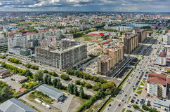 Construction site of residential house in Tyumen Stock Photo