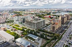 Construction site of residential house in Tyumen Royalty Free Stock Photo