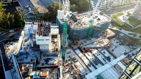 Construction Site of a residential skyscraper Royalty Free Stock Image