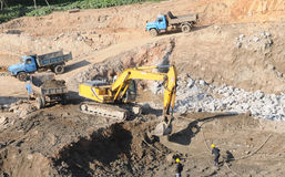 The construction site rooter Stock Images
