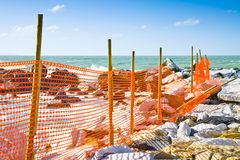 Construction site with safety orange grid Stock Photography