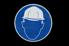 Construction site safety sign Stock Image