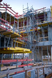 Construction site with scaffold Stock Photo