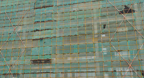 Construction site scaffold background Royalty Free Stock Photography