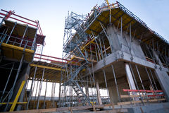 Construction site with scaffolder Royalty Free Stock Photography