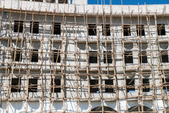 Construction site with scaffolding Royalty Free Stock Photos