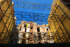 Construction Site with Scaffolding Stock Photo