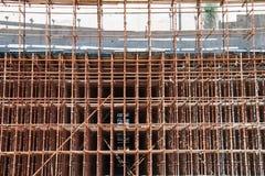 Construction site scaffolding Stock Photo