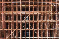 Construction site scaffolding Royalty Free Stock Image