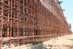 Construction site scaffolding Stock Images