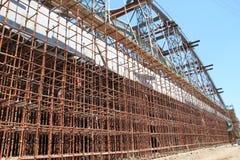 Construction site scaffolding Stock Photos
